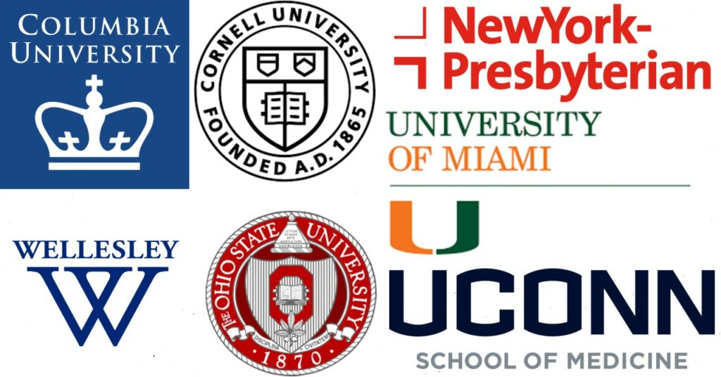 College Logos for locations that Dr. Alita Sikora of Sikora Medical in Vero Beach, FL