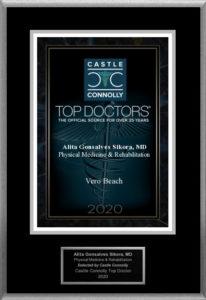 2020 Physical Medicine and Rehabilitation Top Doctors Award, given to Dr. Alita Sikora of Sikora Medical in Vero Beach, FL
